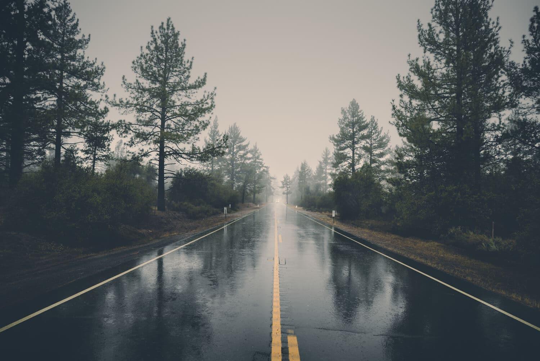 القيادة في المطر